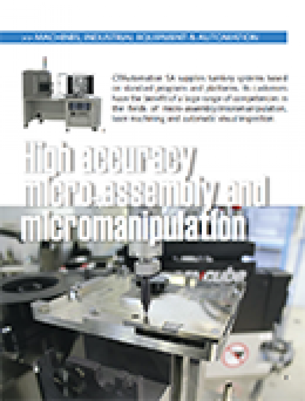 High accuracy micro-assembly and micromanipulation